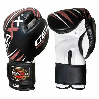 NEW Fitness Ladies Pink GEL Boxing Gloves MMA Punch Bag Leather Sparring 4 /16Oz