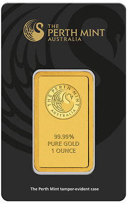 1 oz Gold Bar - Perth Mint $1.00 No Reserve
