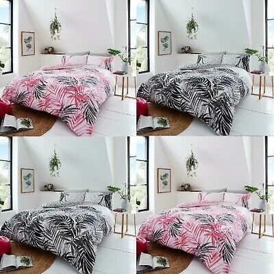 Luxury Leopard Leaves Duvet Cover Bedding Set with Pillow Cases, All Sizes