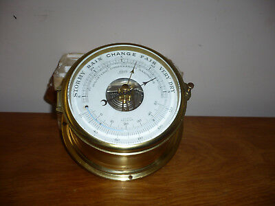 Vintage Schatz Royal Mariner precision compensated barometer with thermometer