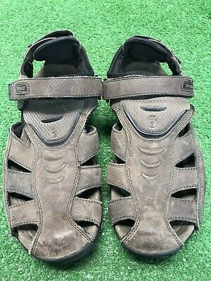 4dd47a064ba2 Teva Men s Sampago Fisherman Closed Toe Sandals Size 10 Brown Leather   6809