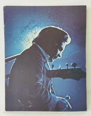 """Johnny Cash  AUTHENTIC AUTOGRAPHED """"At San Quentin"""" poster 17.5"""" x 22.5"""""""