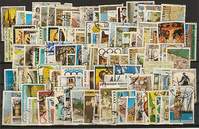 Greece Lot of 100 Different Used Stamps