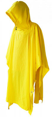 Military Style Nylon Poncho Yellow Color Made in USA Brand New Rip-Stop Nylon
