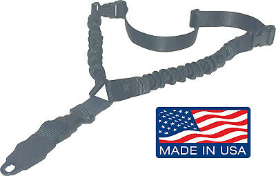 Tactical 1 One Point Single Point Sling Bungee Rifle Gun Sling QD Buckle Black
