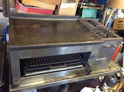 SOUTHBEND  two burner griddle charbroiler