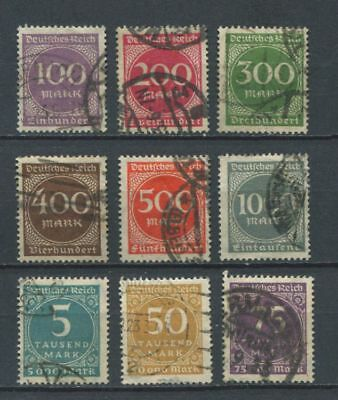 German Reich : Inflation eara set from 1923 - used