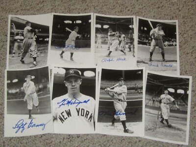 1940s New York Yankees Baseball Autographed Brace 4x6 Photo Collection (8)