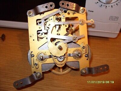 Clock Parts  Striking   Movement Made In  England Springs  Ok   Spares