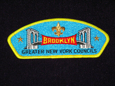 BROOKLYN BRIDGE Greater New York Councils Boy Scout Embroidered Patch VERY RARE!