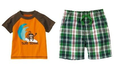NEW gymboree boys summer tee shorts size 3 6 12 18 months NWT You Pick