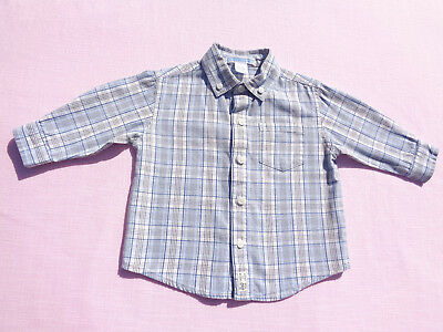 janie and jack baby boys plaid shirt size 6-12 months