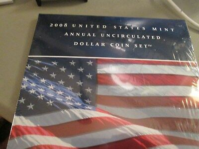 2008 Us Mint Annual Unc Dollar Coin Set Sealed From Mint