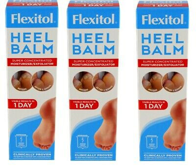Lot of 3 FLEXITOL HEEL BALM SUPER CONCENTRATED MOISTURE 2.66 oz each New In Box