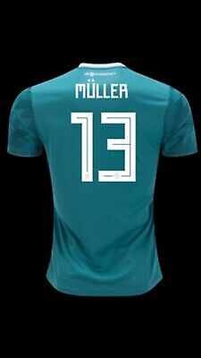 on sale 6ae91 de1a3 NEW OFFICIAL ADIDAS Thomas Muller Germany 2018 Away Jersey BR3144 Men's  Size (L)