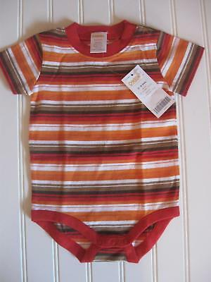 NWT Gymboree Baby Boy 3-6M Stripe Fall Color Thanksgiving Bodysuit Top 3-6 Month