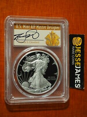 2018 S Proof Silver Eagle Pcgs Pr70 Dcam Cleveland First Day Of Issue Ana Show