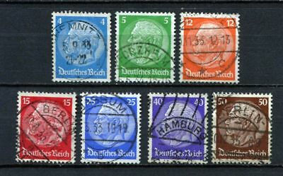 German Reich : 1st issued Hindenburg set from 1932 - used !!!