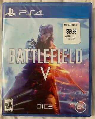 Battlefield V Playstaion 4 Brand New Factory Sealed Region Free Version FreeShip