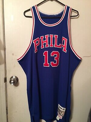 5a875a66bc6 MITCHELL AND NESS Men s Wilt Chamberlain 76ers 1966-67 Jersey Size ...