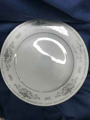 """Diane """"Wade""""Fine Porcelain China Blue with SilverTrim 10 1/4Dinner Plate"""