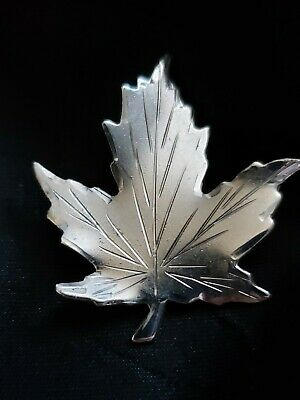 Sterling Silver Vintage Canadian Maple Leaf Breadner Co Pin Brooch
