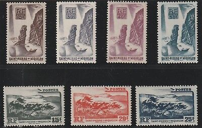St Pierre & Miquelon - French Colonial- Set Of 5 Stamps Mnh & 2 Mh ( Spmi 749 )
