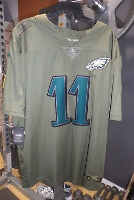 info for b9767 e813a CARSON WENTZ SALUTE to Service Jersey Philadelphia Eagles 2017 Mens Nike  NFL 3XL