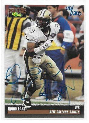 1995 Classic Pro Line Quinn Early Autographed Card 110/1200