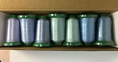 Exquisite Polyester Embroidery Thread SHADES OF LIGHT BLUE