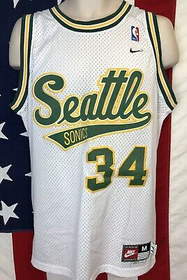 3e0347456d22 Vintage Nike NBA Seattle Super Sonics Ray Allen Jersey Stitched 1971  Throwback M