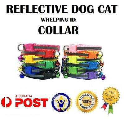 Reflective Dog Cat Kitten Collar Pet Puppy Adjustable Harness with Bell