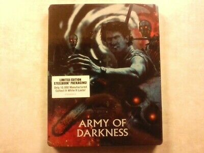 Army of Darkness Scream Factory Limited Edition Blu-ray Steelbook Brand New