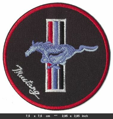FORD MUSTANG Aufnäher Aufbügler Patches Auto cars Sportwagen V8 USA