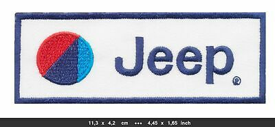 JEEP Aufnäher Aufbügler Patches Auto cars Grand Cherokee 4x4 V8 weiß