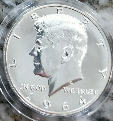 1964 Accented Hair Kennedy Silver Half Dollar Proof Uncirculated