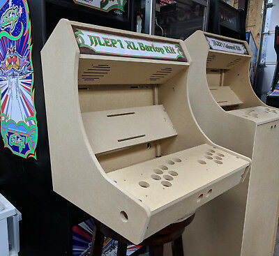 Easy to Assemble XL Bartop / Tabletop Arcade Cabinet Kit w/ Marquee Holder HAPP