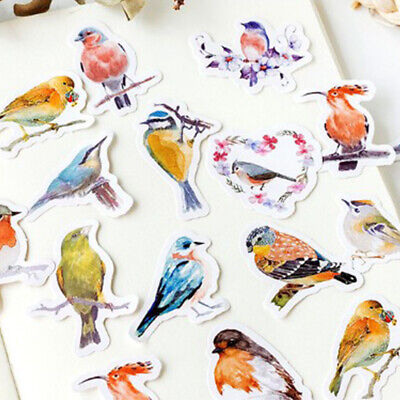 45Pcs Kawaii Robins Birds Adhesive Stickers DIY Diary Albums Stationery Stickers