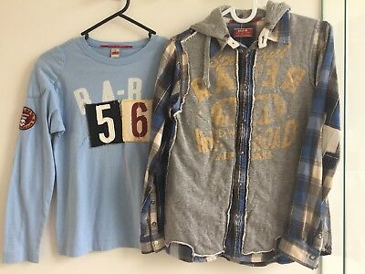 Rare/Raer The Kid Boys Long Sleeve Shirt and T-shirt. size 8. RRP$150+