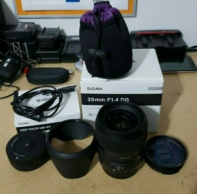 Sigma DG 35mm f/1.4 HSM Art Lens for Canon + USB Dock