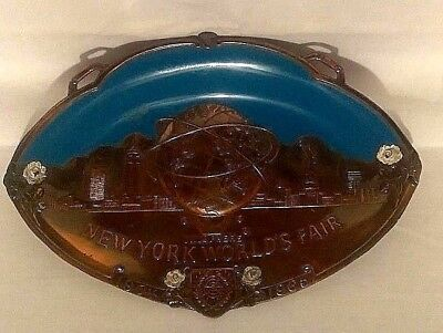 1964/1965 New York World's Fair Copper, Oval Tray, Wall Hanging