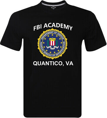 NEW FBI Academy Quantico VA Police United States Department Of Justice Men's Tee