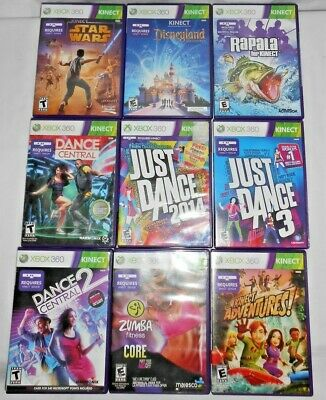 MICROSOFT XBOX 360 Kinect Games Only