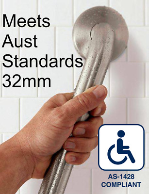 Quality S/Steel 32mm Handrail for Bathroom/Shower/Toilet 1200mm GRAB/SAFETY RAI