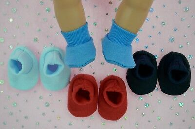 """Play n Wear Doll Clothes For 17"""" Baby Born 4x BOOTIES~BLUE~NAVY~RED~CHAMBRAY"""