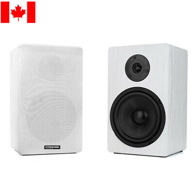 PrimeCables® 1 Pair Bookshelf Speakers Computer High Performance 6.5-Inch 2-Way