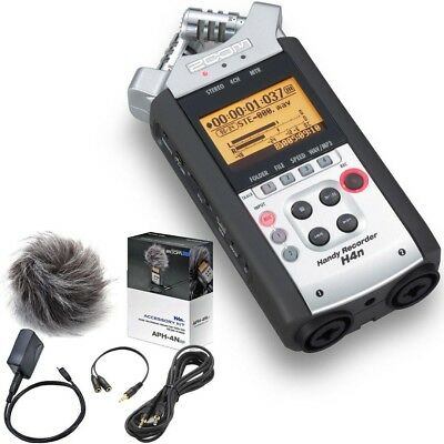 Zoom H4nSP Portable 4-Track Recorder & APH-4NSP Accessory Kit - Bundle