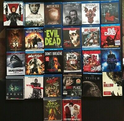 Blu Ray Horror 30 Movies (No Digital) Most Never Played Evil Dead/res Evil/more