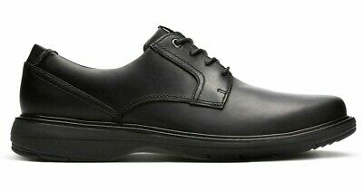 half price lowest discount entire collection CLARKS CUSHOX PACE Men's Black Leather Casual Oxford Shoes ...