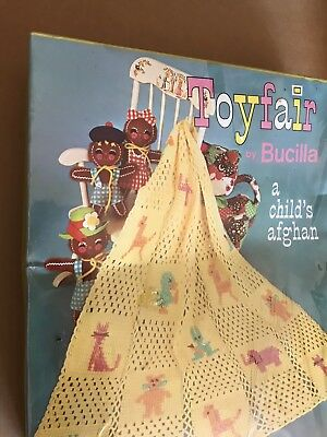 Vintage BUCILLA Crochet Kit Toyfair Childs Afghan New & sealed Color SNOW WHITE
